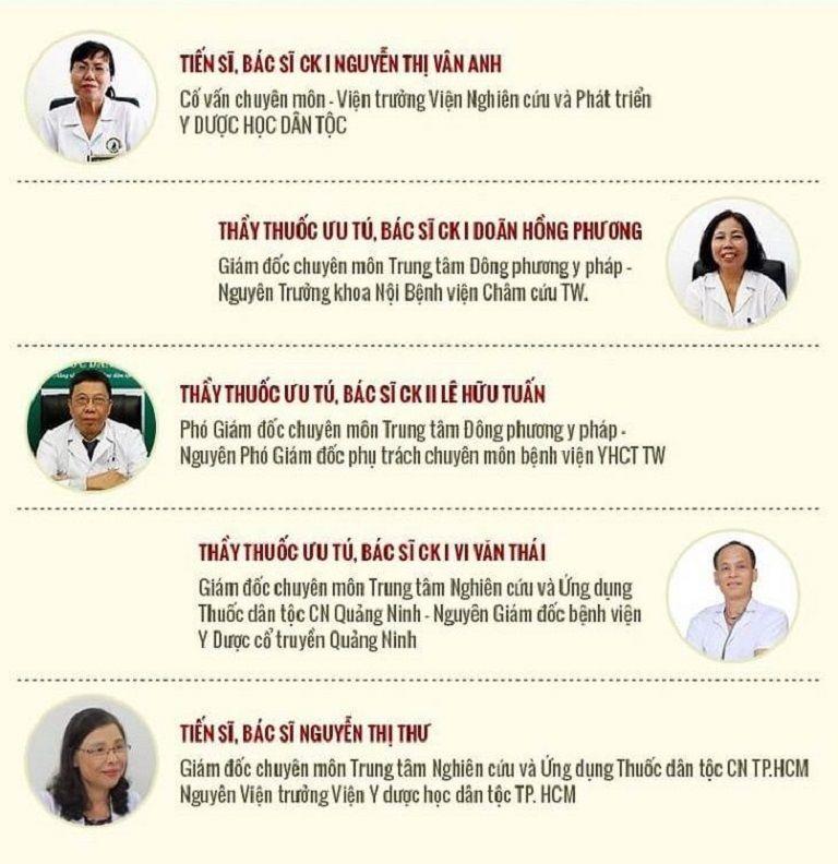 Đội ngũ bác sĩ tại Đông phương Y pháp