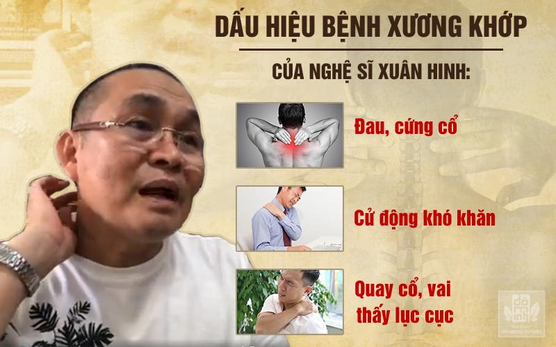 Nghệ sĩ Xuân Hinh thường xuyên phải chịu đựng những cơn đau dữ dội vùng cổ vai