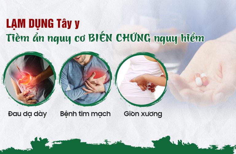 Tây y tiềm ẩn nguy cơ biến chứng, ảnh hưởng đến dạ dày nếu lạm dụng