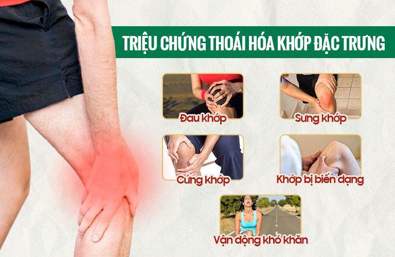 Các triệu chứng điển hình của bệnh nhân bị thoai hóa khớp