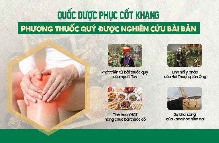 Bài thuốc xử lý thoái hóa khớp duy nhất được nghiên cứu bài bản tại Việt Nam