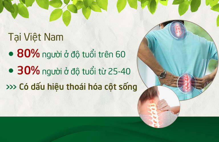 Thoái hóa cột sống là bệnh lý phổ biến tại Việt Nam