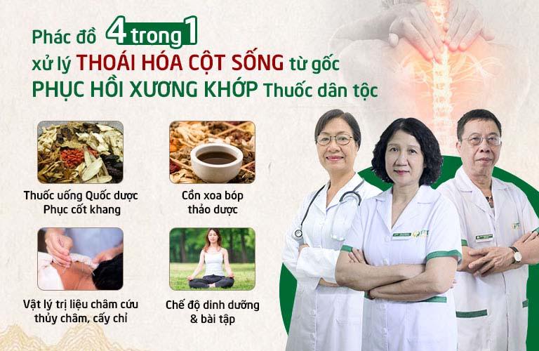 Phác đồ điều trị thoái hóa cột sống tại Trung tâm Thuốc dân tộc
