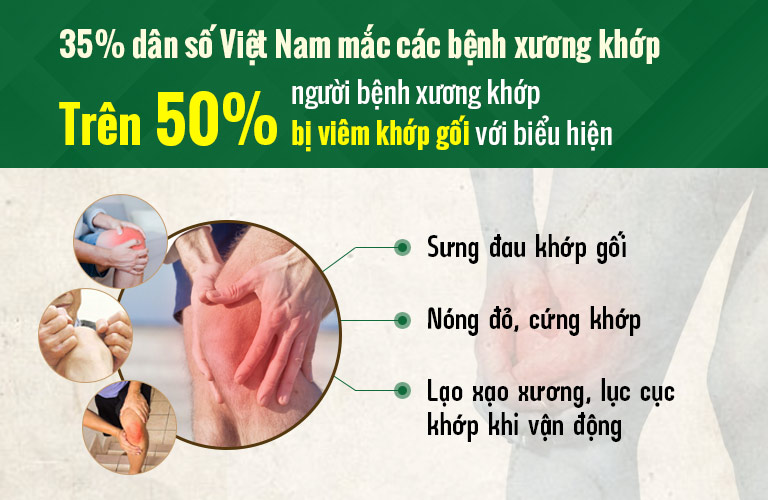 Viêm khớp gối là bệnh phổ biến tại Việt Nam