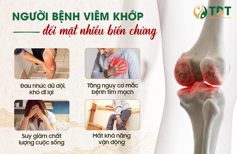 Biến chứng khi bị viêm đau khớp