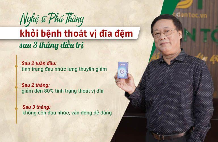 Nghệ sĩ Phú Thăng điều trị dứt điểm thoát vị đĩa đệm sau 3 tháng