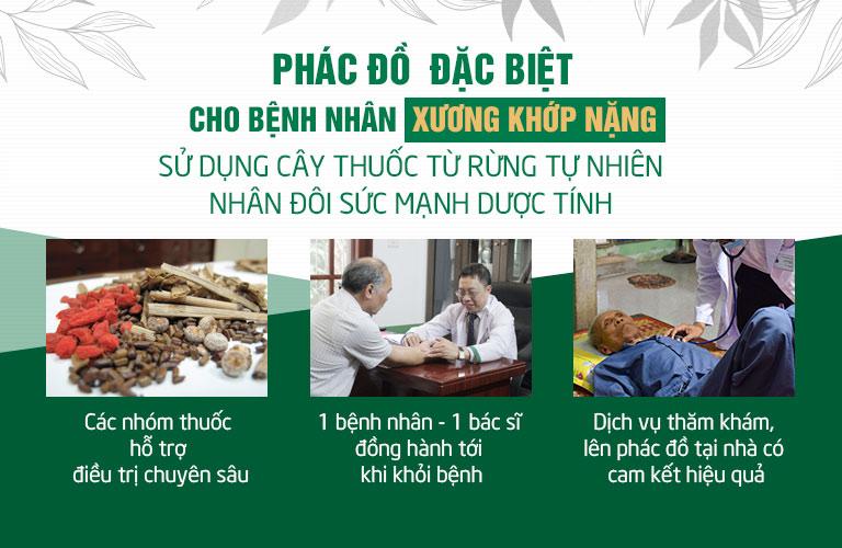 Trung tâm Thuốc dân tộc ứng dụng phác đồ xử lý bệnh xương khớp đặc biệt cho bệnh nhân nặng