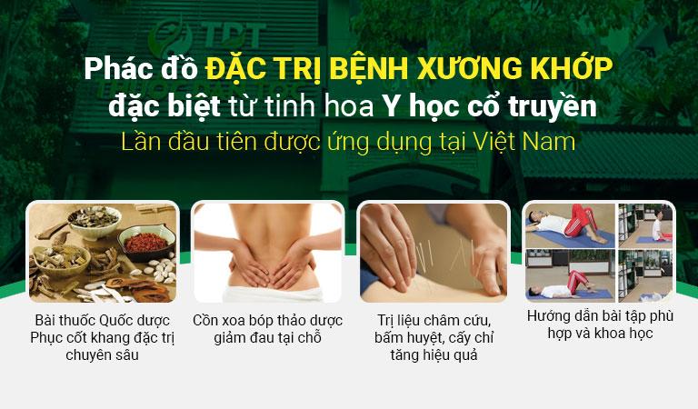 Phác đồ điều trị bệnh xương khớp hoàn chỉnh tại Trung tâm Thuốc dân tộc