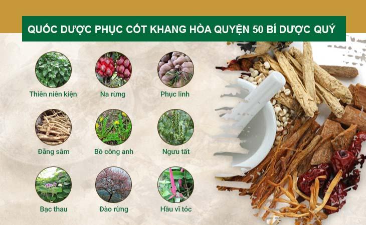 Quốc dược Phục cốt khang kết hợp hơn 50 vị thuốc Nam