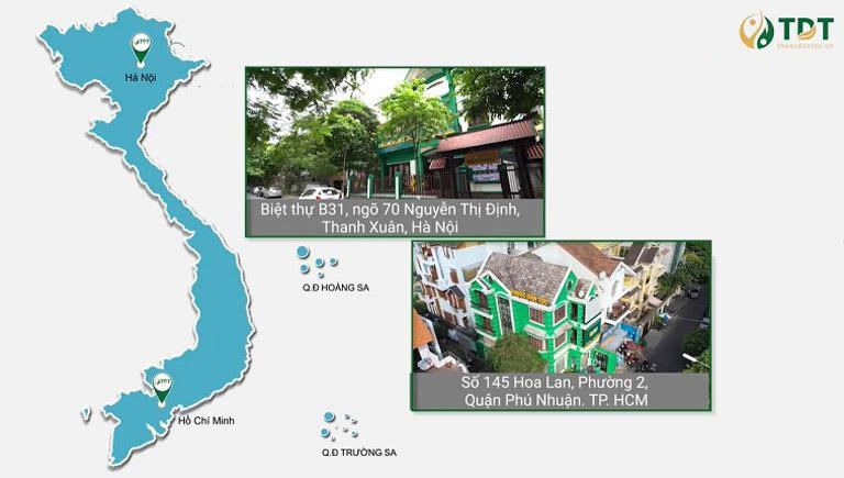 Trung tâm Thuốc dân tộc có 2 cơ sở tại Hà Nội và Tp HCM