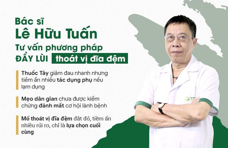 Bác sĩ Lê Hữu Tuấn tư vấn các phương pháp hỗ trợ điều trị thoát vị đĩa đệm cổ